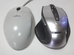 以前使用していたマウスと本製品の比較画像 その1